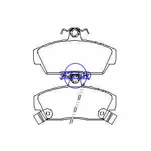 ROVER 200 Hatchback 400 CABRIOLET (XW) Pastiglia freno OEM:67321162NBI FDB608 GDB497 WVA:21520 21521 21522, FF608