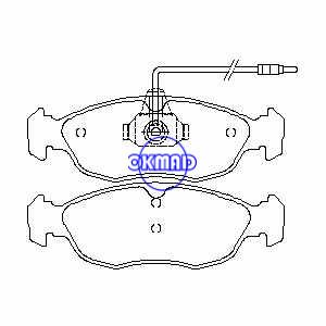 PEUGEOT 106/306 pastiglia freno FMSI: D1483-8681/8683, OEM: 4251.34/4251.03, WVA21430, FDB1168/FDB876, FF876