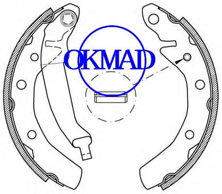 CHEVROLET MATIZ (M200, M250) SPARK 0.8 1.0 SX Ganasce freno OEM:96288490 FSB566 GS8645