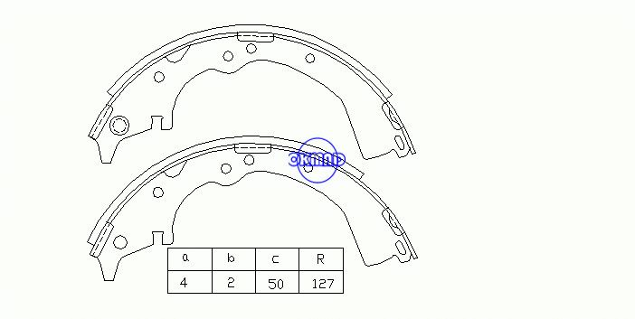 TOYOTA HIACE II Box Wagon IV Bus V Pickup LAND CRUISER TACOMA II Pickup Brake shoes FMSI: 2156-S523 OEM:04495-40020 MK2282 GS7064 GS8484, OK-BS008