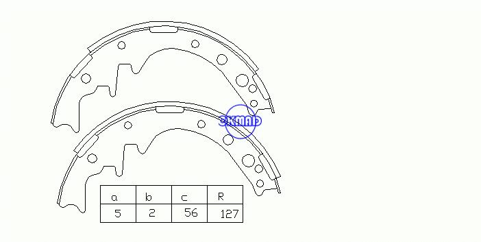 Toyota PICKUP 2WD Dyna Hiace Hilux Dyna Drum Brake shoes FMSI:3156-S414 OEM:04497-35020 MK2240 FSB171 GS8171, OK-BS012