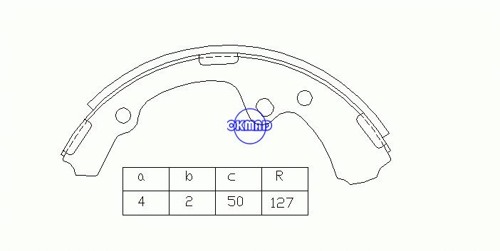 TOYOTA HIACE I Box Wagon Drum Brake shoes OEM:04494-26030 MK2256 FSB254 GS8143, OK-BS013