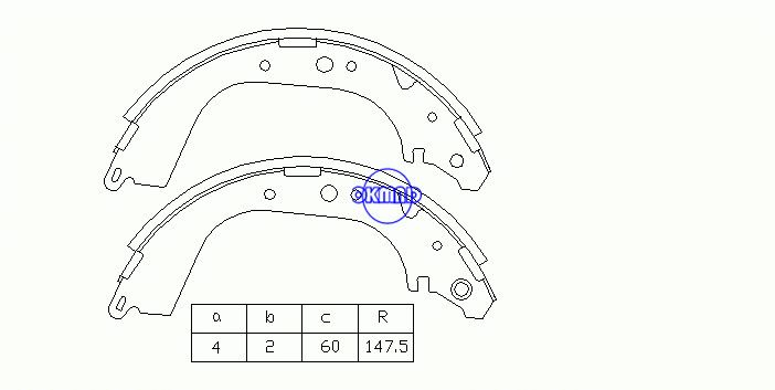NISSAN PATROL GR IV III/2 Station Wagon TOYOTA LAND CRUISER 80 Pickup Brake shoes FMSI: 1383-S549 OEM:04495-60010 MK2279 MK2280 GS8502 GS8601, OK-BS014