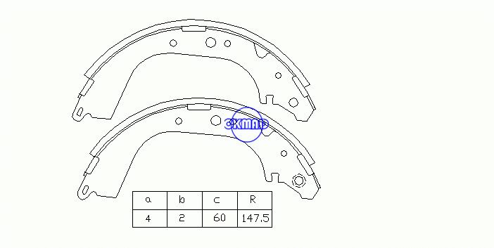 NISSAN Safari Atlas Cabstar ISUZU ELF Drum Brake shoes OEM:44060-01J25 FN-1179 K1179 K1208, OK-BS015