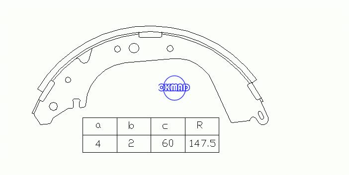 NISSAN PATROL GR IV III/2 Station Wagon TOYOTA LAND CRUISER 80 Pickup Brake shoes FMSI: 1383-S549 OEM:04495-60010 MK2279 MK2280 GS8502 GS8601, OK-BS016