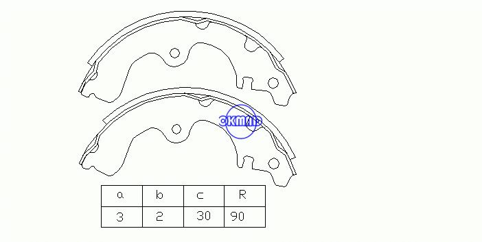 TOYOTA TERCEL / CORSA COROLLA II Drum Brake shoes FMSI:1351-S531 OEM:04497-16020 MK2287 FSB185 GS8182, OK-BS018