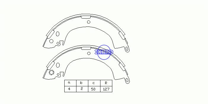 MITSUBISHI L200 L300 AJERO DONGNAN (SOUEAST) DELICIA Bus CHANGFENG LIEBAO CS6 Brake shoes FMSI:1370-S524 OEM:MB699017 FSB249 K6664 GS8185, OK-BS022