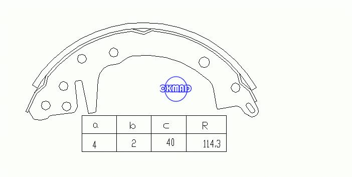 DODGE Challenger Colt HYUNDAI Accent KIA Forte Rio PLYMOUTH Arrow Champ Sapporo Drum Brake shoes FMSI:1359-S441 OEM:MST05044 MK6626 GS8070, OK-BS026