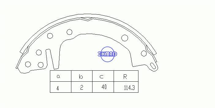 DODGE Challenger Colt HYUNDAI Accent KIA Forte Rio PLYMOUTH Freccia Champ Sapporo Pattini freno a tamburo FMSI: 1359-S441 OEM: MST05044 MK6626 GS8070, OK-BS026