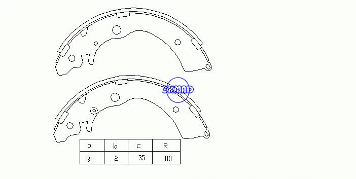 HONDA ACCORD IV AIRWAVE CAPA CIVIC CR-V I FREED HR-V SMX SUZUKI CARRY JIMNY MAZDA SCRUM Drum Brake shoes FMSI:1429-S627 OEM:43153-SM4-A01 K5524 FSB318 GS8559, OK-BS028
