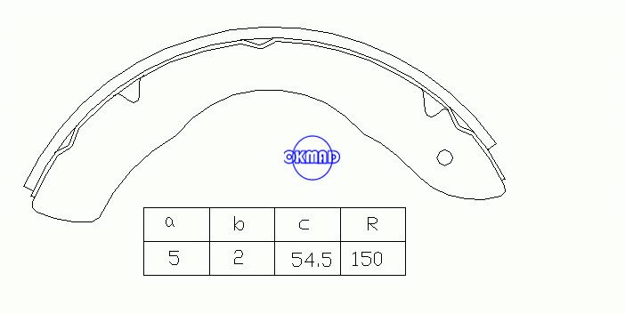 ISUZU ELF 2400 2800 3300 3600 4300 Drum Brake shoes OEM:5-87100-009-0 MK4402 GS7145, OK-BS031