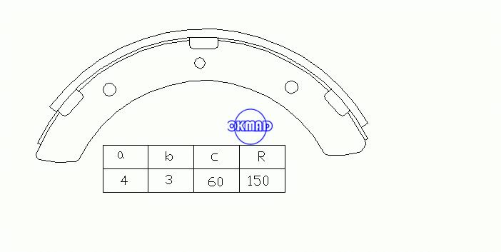 MITSUBISHI CANTER 3000 3600 4200 4600 4900 5200 Drum Brake shoes OEM:MB162368 MK6602 GS7187, OK-BS033