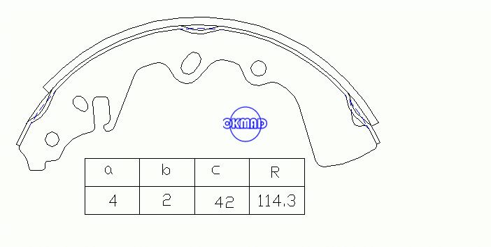 MAZDA 616 626 I (CB) 818 Estate 929 I (LA) RX 7 I (SA) Drum Brake shoes FMSI:1372-S444 OEM:8595-26-310 FSB62 MK3324 GS8086 OK-BS035