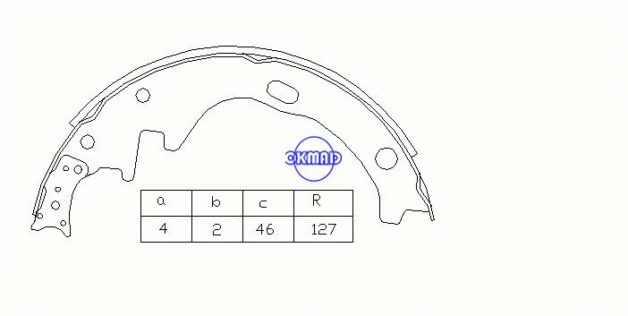 NISSAN PICK UP (720) URVAN Box Bus (E23) Drum Brake shoes FMSI:2166-S527 OEM:44060-T6025 MK1162 FSB251 GS8259, OK-BS046