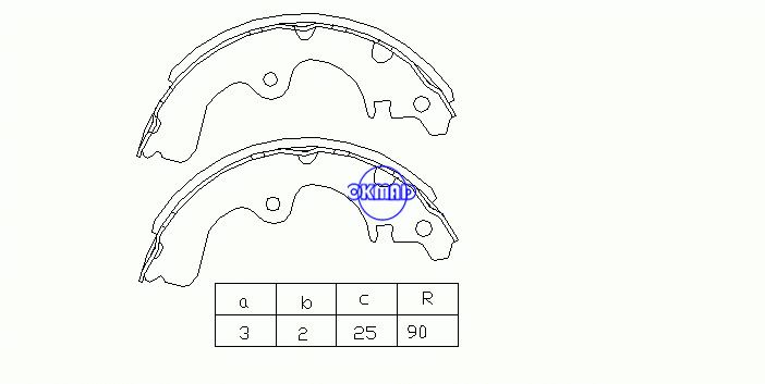 TOYOTA  PASEO Convertible SERA Coupe STARLET Drum Brake shoes OEM:04495-10080 FSB175 K2290 GS8243, OK-BS048