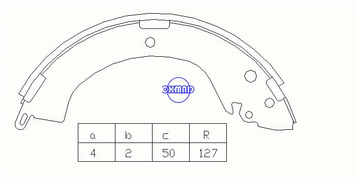 MITSUBISHI  DELICA / SPACE GEAR L200/TRITON L400 Box Brake shoes OEM:MN186402 K6715 GS8667, OK-BS056