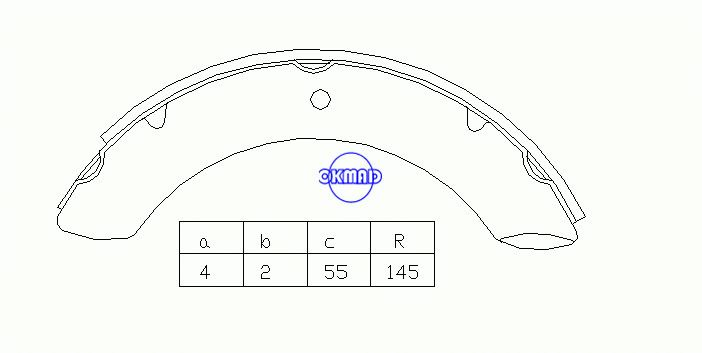 TOYOTA TRUCK Land Cruiser Drum Brake shoes FMSI:8111-S469 OEM:04494-60010 MK2221 GS7044, OK-BS058