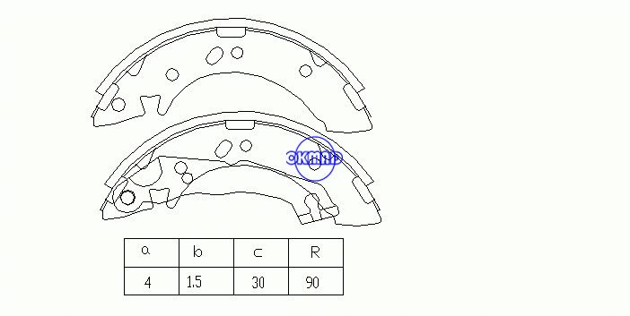HYUNDAI ACCENT I Saloon (X-3) Brake shoes FMSI: 1379-S707 OEM:58305-22A00 FSB605 GS8658, OK-BS061