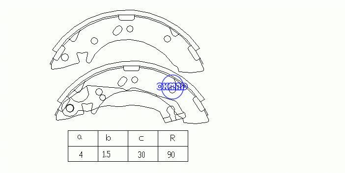 HYUNDAI ACCENT I Sedan (X-3) Ganasce freno FMSI: 1379-S707 OEM: 58305-22A00 FSB605 GS8658, OK-BS061