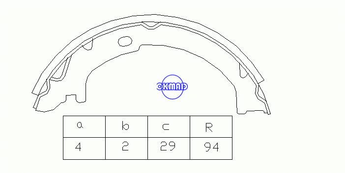 FORD Crown Victoria LINCOLN Town Car MERCURY Grand Marquis VOLVO S60 TRUCK XC90 Drum Brake shoes FMSI:1497-S725 OEM:F1VY-2N712-A, OK-BS062