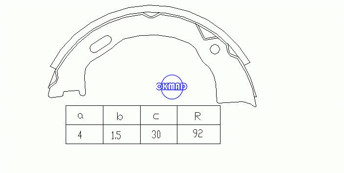 FORD USA EXPLORER (UN46) (A3) (U2) JEEP GRAND CHEROKEE I (ZJ, ZG) Drum Brake shoes FMSI:1484-S701 OEM:F58Z-2648-A, OK-BS063