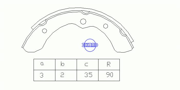 DAIHATSU CUORE I (L55, L60) Drum Brake shoes OEM:47410-87201-000 MK0008 GS8303, OK-BS073