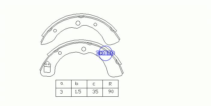 DAIHATSU CHARADE CUORE I SPARCAR Box Bus Drum Brake shoes OEM:04495-87201-000 MK0009 FSB160 GS8139, OK-BS074