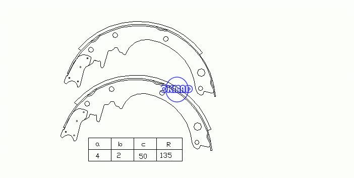 NISSAN PATROL III/1 Hardtop (W160) III/2 Station Wagon (W260) Drum Brake shoes OEM:44060-25T25 MK1146 FSB250 GS8183, OK-BS078