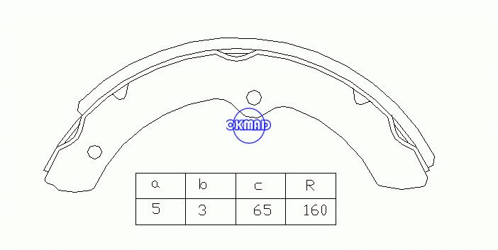 TOYOTA DYNA Platform/Chassis Drum Brake shoes OEM:04494-36050 MK2265 GS7070, OK-BS080