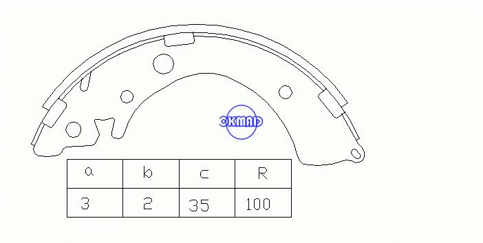 HONDA ACCORD III V VI VII Coupe Hatchback Saloon HR-V Brake shoes FMSI: 1364-S576 OEM:43153-SR4-A02 FSB402 Brembo:S28512N, OK-BS085