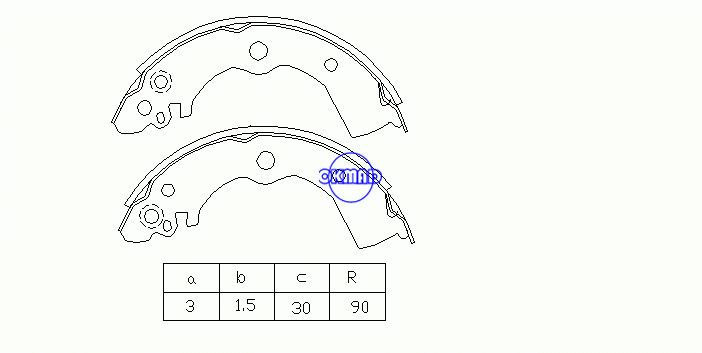 TOYOTA  Cami Camry Solara Crown Comfort RAV 4 DAIHATSU  Terios Kid Brake shoes FMSI: 1438-S638 1447-S587 OEM:44060-F4125 MK1185, OK-BS088