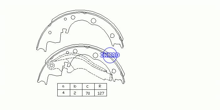 FORD TRANSIT Bus Box DAILY I II Platform/Chassis Drum Brake shoes OEM:1906352 FSB378 GS6220, OK-BS108