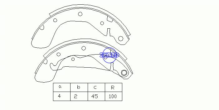 OPEL VECTRA A Hatchback (J89) Drum Brake shoes FMSI: 1508-S740 OEM:NP-1441 FSB335 GS8543, OK-BS121