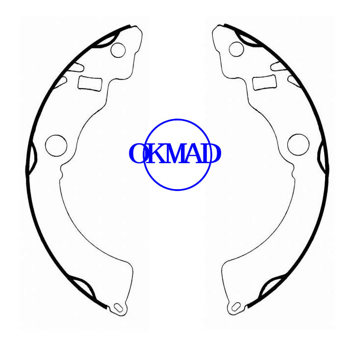 CHEVROLET Metro PONTIAC Firefly SUZUKI Swift Drum Brake shoes FMSI:1489-S724 OEM:53200-50830, OK-BS123