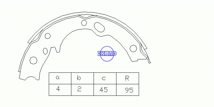 ISUZU ELF 3100 3600 MITSUBISHI Canter NISSAN Atlas Brake shoes FMSI:2183-S733 OEM:8-94311-777-0 K4443 GS7169, OK-BS128