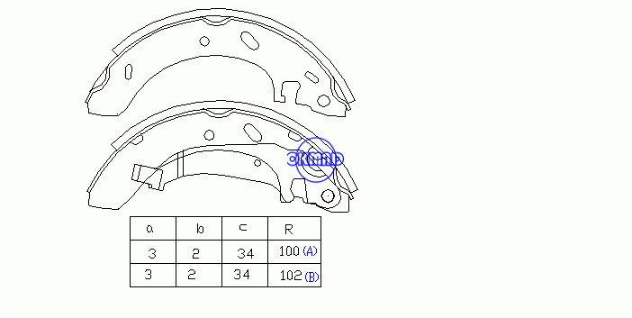 CHRYSLER Cirrus DODGE Stratus PLYMOUTH Breeze Drum Brake shoes FMSI:1481-S698 OEM:4797144, OK-BS130