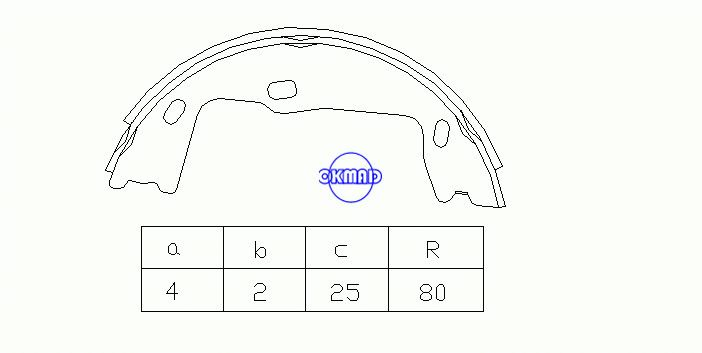 SAAB 900 II Convertible Drum Brake shoes FMSI:1537-S797 OEM:1605686 FSB227 GS8223, OK-BS137