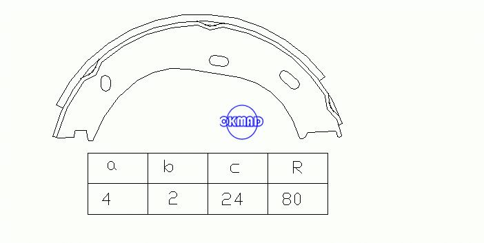 MERCEDES BENZ /8 (W115) Coupe (W114) COUPE (C123) S-CLASS (W108, W109) Saloon (W123) Drum Brake shoes FMSI:1596-S875 OEM:1264200120 FSB63 GS8218, OK-BS153