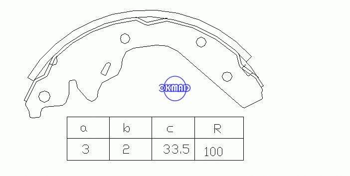 CHRYSLER LE BARON Convertible Saloon NEON II DODGE Drum Brake shoes FMSI:1365-S519 OEM:BB4238827 MK11115 GS8644, OK-BS162R