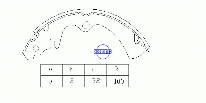 MAZDA 323 I Station Wagon (FA) Drum Brake shoes FMSI:1371-S525 OEM:BB62-26-310 FSB156 MK3343 GS8255, OK-BS163
