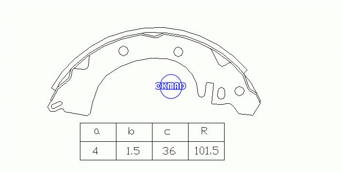 MITSUBISHI CORDIA GALANT III IV Saloon Drum Brake shoes FMSI:1390-S560 OEM:MB366143 FSB228 MK6669 GS8221, OK-BS165