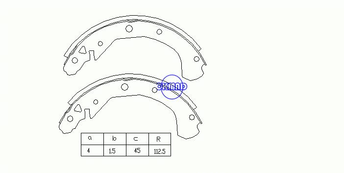 BUICK ELECTRA LESABRE PARK AVENUE Drum Brake shoes FMSI:1394-S564 OEM:12321420, OK-BS166