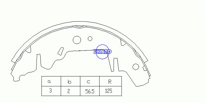 CHRYSLER PLYMOUTH VOYAGER / GRAND VOYAGER DODGE CARAVAN KIA CARNIVAL II Барабанные тормозные колодки FMSI: 1485ATT-S714 OEM: 0K56A-26-38Z FSB568 GS8643, OK-BS177R
