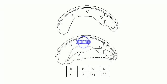 OPEL CORSA A Hatchback (S83) Drum Brake shoes OEM:160674 FSB216 GS6214, OK-BS179