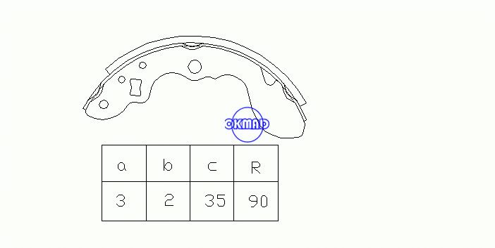 MAZDA SCRUM SUZUKI EVERY CARRY Drum Brake shoes OEM:53210-85010 MK9919 GS7254, OK-BS182