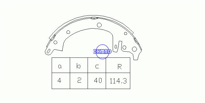 ISUZU GeMini 1600 1800 Drum Brake shoes FMSI:1386-S555 OEM:5-87100-032-0 MK4432, OK-BS183