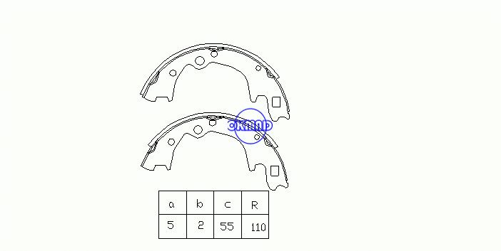 HYUNDAI H-1 H100 Box KIA K2500 K2700 MAZDA E-SERIE Bus Brake shoes OEM:0K756-26-38Z K3350 GS8428, OK-BS184