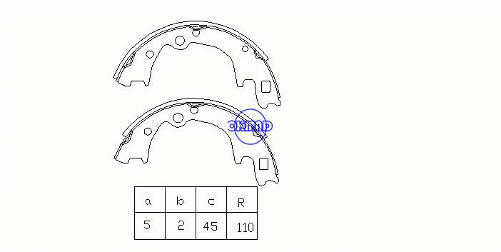 HYUNDAI H-1 / STAREX MPV (A1) H100 Box Bus Drum Brake shoes OEM:58305-4BA00 SA072-PO, OK-BS185