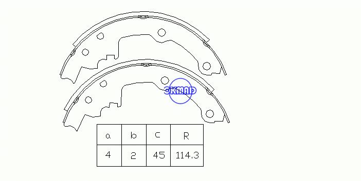 BUICK CENTURY Estate Saloon ELECTRA CHEVROLET LUMINA PONTIAC TRANS SPORT Drum Brake shoes FMSI:2165T-S552 OEM:12321413, OK-BS208