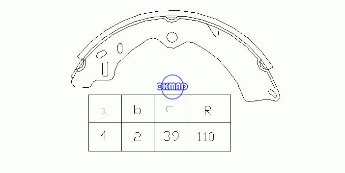 SUZUKI SAMURAI SJ 410 Cabrio 413 JIMNY Drum Brake shoes OEM:53210-83040 FSB260 MK9917 GS8278, OK-BS210